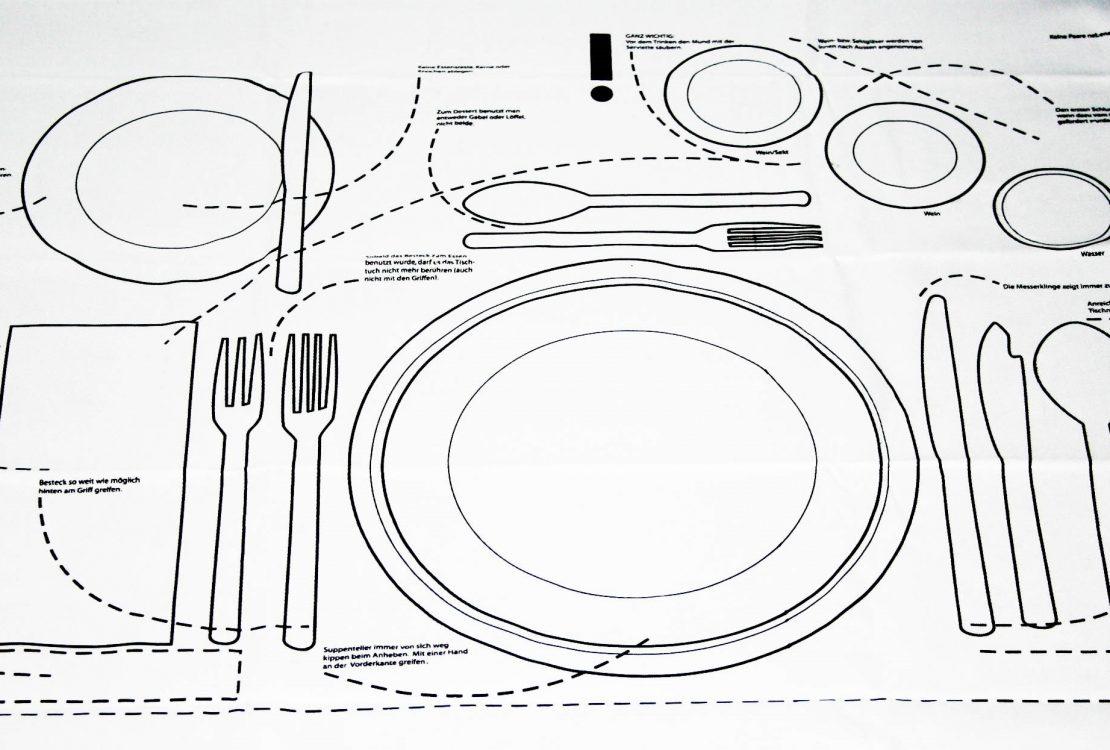 Tisch decken Zeichnung